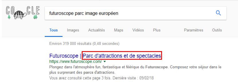 Futuroscope parc image européen ou parc attraction