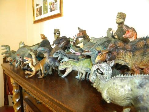 Dinosaures carnivores Papo, Schleich, Safari, Collecta, Bullyland. Crédit : Chris Bellabas.