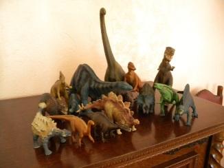 Dinosaures Schleich. Crédit : Chris Bellabas