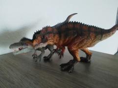 Acrocanthosaurus papo et Acrocanthosaurus Rebor. Crédit : Chris Bellabas